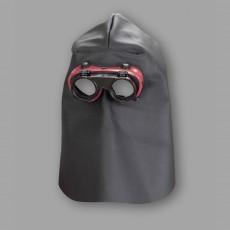 Schweißerhaube aus Nappaleder mit Nackenschutz