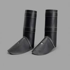 Schweißer-Schutzgamaschen aus Volleder mit 2 Klemmfedern